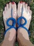 She Runs in Sandals